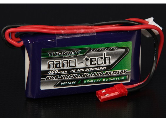 Turnigy Nano-Tech-460mAh 2S 25 ~ 40C Lipo-Pack