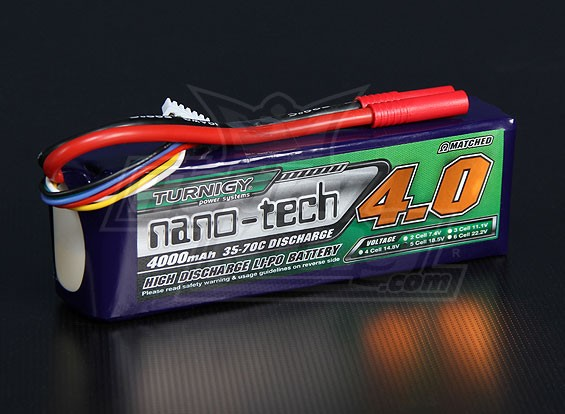 Turnigy Nano-Tech-4000mAh 5S 35 ~ 70C Lipo-Pack