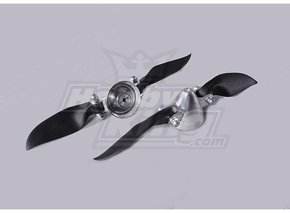 Folding Propeller Assembly 6x6 (Alloy / Nabe Spinner) (2pc / bag)