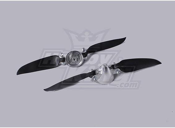 Folding Propeller Assembly 7.3x4 (Alloy / Nabe Spinner) (2pc / bag)