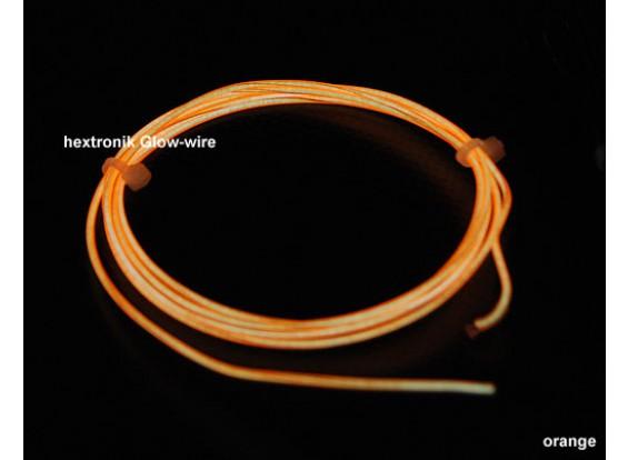 hexTronik Lumifly Glow Wire ORANGE 1.2mtr