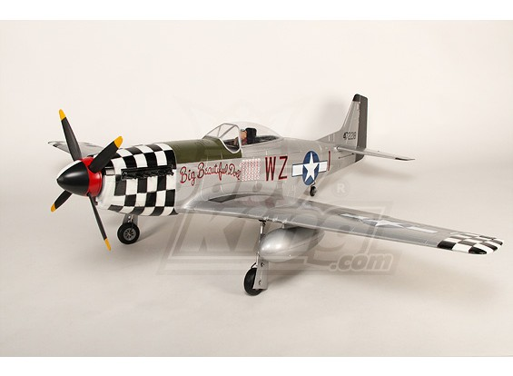 P-51D Mustang Monster 1.55m 6Ch XL-EPO-61inch PNF