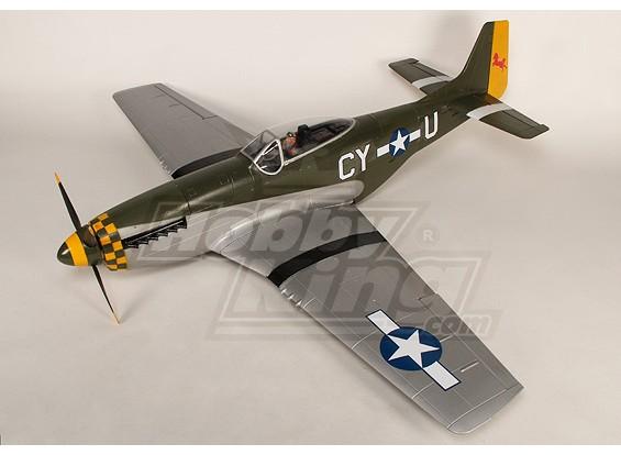 P-51D Mustang Monster 1.55m 6Ch XL-EPO - 61inch PNF (Grün)