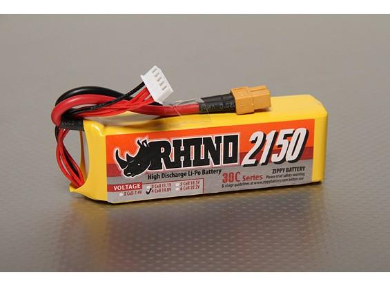 Rhino 2150mAh 4S 14.8V 30C Lipo-Pack
