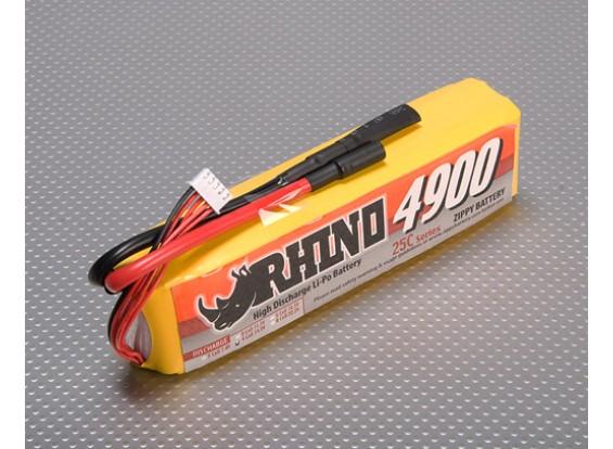 Rhino 4900mAh 4S1P 25C Lipo-Pack