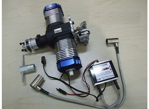 RotorMotor 50V2 Benzin / Gas-Motor w / Elec Ignition