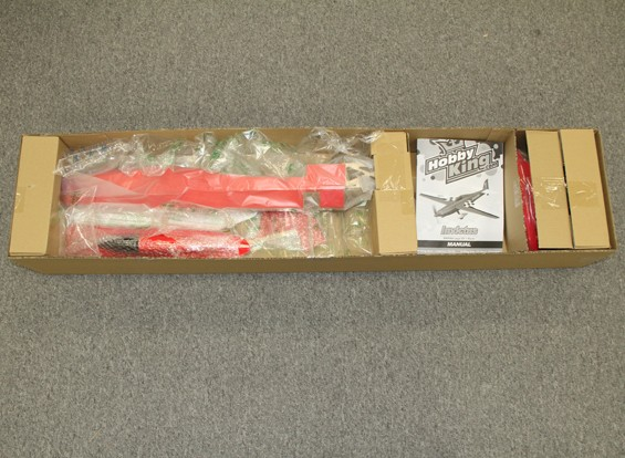 SCRATCH / DENT - Hobbyking Invictus EF-1 Pylon Racer Balsa 1288mm - Rot (ARF)