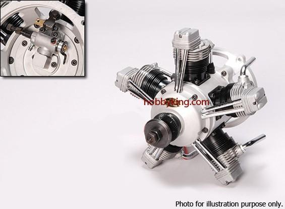 SCRATCH / DENT - ASP FS400AR Four Stroke 5 Zylinder Glow Motor