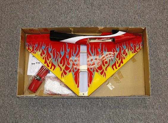 SCRATCH / DENT - Delta Rocket-High-Speed-Flügel - Rot 640mm (ARF)