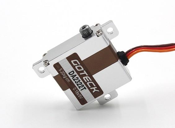 SCRATCH / DENT - Goteck DA2321T Digitale MG Metall umkleidet Flügel Servo 23g / 5.2kg / 0.12sec