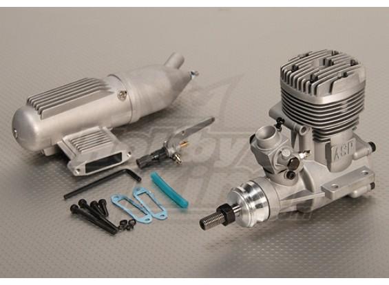 ASP S61a Zweitakt Glow Motor w / Remote HS Nadelventil