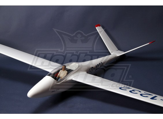 H101 Salto 2.45m Skala Glider Kit w / UltraDetail Pilot und Cockpit