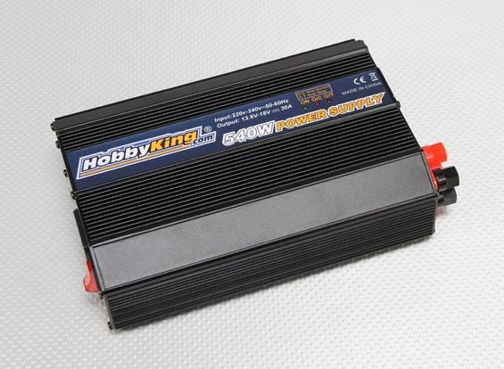 Hobbyking 540W 220 ~ 240 V Stromversorgung (13,8 V ~ 18V - 30amp)
