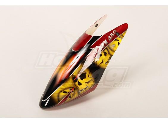 High-End Airbrushed Baldachin für 450 Größe Heli