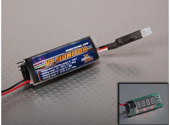 Hobbyking Spannung und Temperaturmonitor 2S-6S (0-150degC)