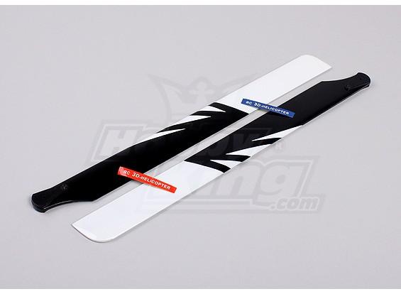 430mm Holz Haupt Blades (Schwarz / Weiß)