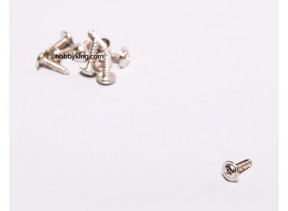 Schneidschrauben M2x8mm Phillips Kopf w / Schulter (10 Stück)