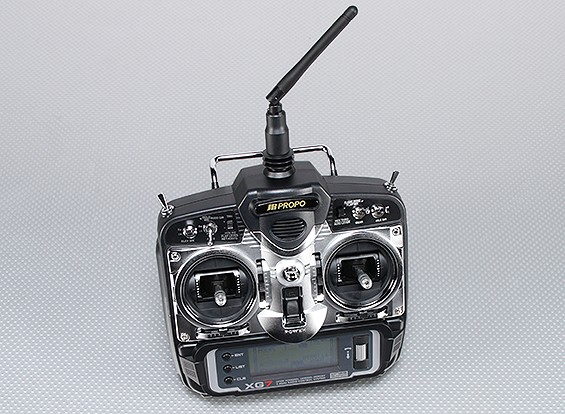 JR XG7 7-Kanal 2,4 GHz DMSS Transmitter w / RG831B Receiver (Mode 2)