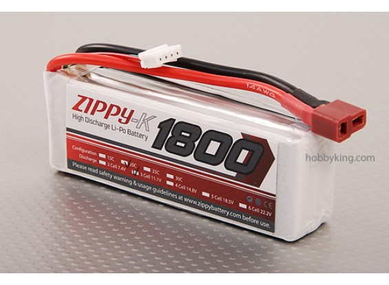 Zippy-K 1800 3S1P 20C Lipo Pack