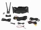 Skyzone 2D / 3D-5.8GHz FPV Schutzbrillen W / 40CH Raceband Empfänger, H / Tracking (V2), 600mW VTX und 3D-Kamera
