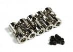 Metall-Universal-Antriebswellenkupplung für Boot 6mm-6mmxD11xH24mm (5 Stück)