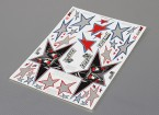 Self Adhesive Decal Sheet - Evil Black Star Maßstab 1:10