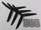Hobbyking ™ 3-Blatt Propeller 7x3.5 Schwarz (CCW) (3pcs)