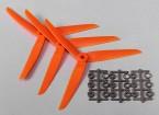 Hobbyking ™ 3-Blatt Propeller 7x3.5 Orange (CCW) (3pcs)