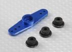 Universal Aluminium Zwei-Wege-Servo Arm - JR, Futaba & HITEC (blau)
