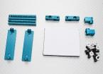 1/10 Car Aluminium CNC Körper Shell-Befestigungs-Set (blau)