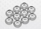 Sockethead Waschmaschine eloxiertes Aluminium M3 (Silber) (10 Stück)