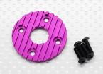 Aluminium CNC Motor-Kühlplatte 36mm (Purple)