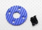Aluminium CNC Motor-Kühlplatte 36mm (blau)