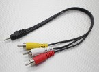 2,5 mm-Stecker Stereo-Cinch A / V-Stecker-Adapter-Kabel (300 mm)
