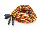 Verdrehte 80cm Servokabel Extention (JR) mit Haken 22 AWG (5pcs / bag)
