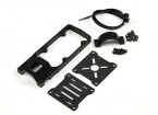 CNC-Motorhalterung für DIY Multi-Rotoren 25mm Schlauch (schwarz)