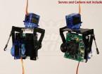 FPV Fiberglas Pan-Tilt Kamerahalterung L-Größe