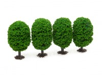 HobbyKing Model Railway Scale Trees with Base 70mm (4 pcs)