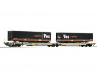 Roco/Fleischmann HO Articulated Double Pocket Wagon AAE AG (VOS Logistics)