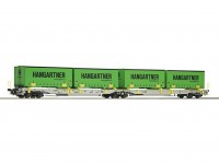 Roco/Fleischmann HO Articulated Double Pocket Wagon AAE AG (Hanggartner)