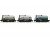 Roco/Fleischmann HO 3pc Tank Wagon Set SJ (BP)