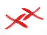 DYS 5040 x 4 Blade-Elektro Propellern (CW und CCW) (Paar) Red