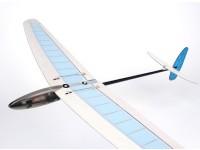 Hobbyking ™ Mini DLG Pro w / Ailerons Balsa - Blau / Weiß 990mm (PNF)