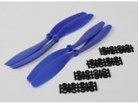 Hobbyking Slowfly Propeller 10x4.5 Blau (CW / CCW) (4 Stück)
