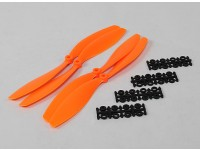 10x4.5 SF Props 2pc CW 2 pc Linkslauf (orange)