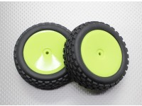 Vorne Buggy Reifen Set 2sets (Dish Felge) - 1/10 Quanum Vandal 4WD Racing Buggy (2 Stück)