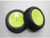 Rear Buggy Reifen Set (Dish Rim) - 1/10 Quanum Vandal 4WD Racing Buggy (2 Stück)