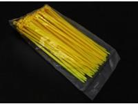 Elektrische Zip / Kabelbinder Nylon 4mm x 150 mm - 100 / bag (Gelb)
