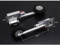 Turnigy Full Metal Servoless 100-Grad-Twist n Schalten Retracts mit 88mm Oleo Beine (2 Stück)