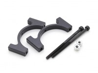 Schwarz eloxiert CNC-Aluminiumrohrklemme 28 mm Durchmesser
